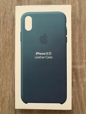 iPhone XR Apple Genuine European Leather Protective Cover Case Cape Cod Blue