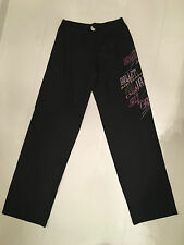SODANCA BRAZILIAN JAZZ PANTS IN BLACK WITH GRAPHIC DESIGN ON LEG – SMALL