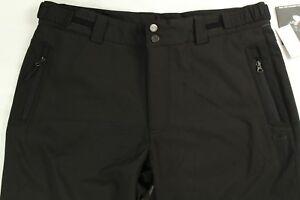 NWT Men's Ski Black Outdoors Pants Soft Shell Adjustable Size XL Retail