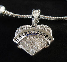 Hairdresser Charm Hair stylist  jewelry gift Silver