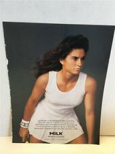 "MILK WHAT A SURPRISE? Gabriella Sabatini Print ADVERTISEMENT 8.5x11"" 1996 Tennis"
