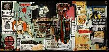 "Jean Michel Basquiat ""Notary"" Oil Painting Modern on Canvas large Wall Picture"