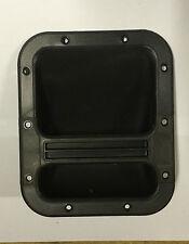 Plástico Negro Mango Barra de reemplazo de gabinete de Altavoz Empotrado 136mm X 169mm