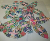 Hand Stitched Quilt Pieces - Vintage Fabric - Repurpose