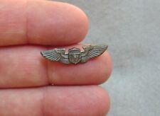 Pilot Wings Sweetheart Pin NS MEYER NEW YORK STERLING HMk 26mm (xh33)