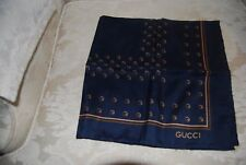 New Gucci handkerchief GG medium silk scarf