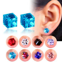1 pair crystal weight loss magnetic earrings health magnet non-pierced ear FO