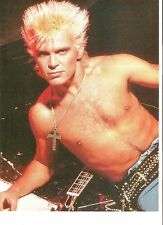 BILLY IDOL shirtless with cross magazine PHOTO/Poster/clipping 11x8 inches