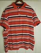 Atlantic Bay Men's Red Striped Polo Top Shirt Size XXL