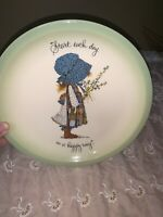 VTG 1972 BLUE HOLLY HOBBIE COLLECTOR'S ED PLATE~START EACH DAY IN A HAPPY WAY11b