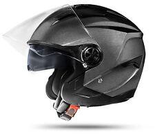 LA Street Grau XL mit Doppelvisier DVS ECE Motorradhelm Anthrazit Silber Jethelm