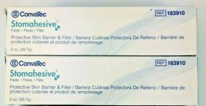2 ConvaTec 183910 Stomahesive Protective Paste 2 oz.Tubes Expires 2024-2026