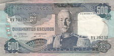 Billet banque ANGOLA 500 escudos 1972 carmona état voir scan 232