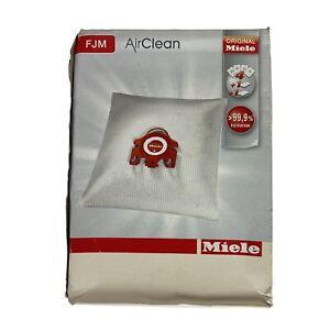 Genuine Miele FJM Vacuum Cleaner AirClean Dust Bags Pack of 4 Bags 2 Filter