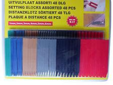 Distanzplättchen1-6 mm48tlg.Distanzkeile Montagekeile Unterlegkeile LaminatMöbel