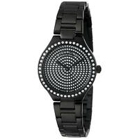 Stuhrling Symphony 683 Women's 32mm Black Steel Bracelet & Case Watch 683.02