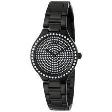 Stuhrling Symphony 683 Women's 32mm Black Steel Bracelet & Case Watch 683.02