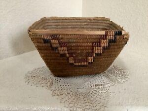 Early Antique Northwest Coast Salish Rectangular Basket