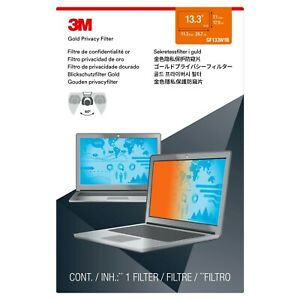 """NEW Genuine 3M GF133W1B Gold Privacy Filter for 13.3"""" 16:10 Screen Laptops"""