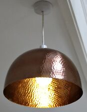 Large Modern Industrial Copper Hammered Pendant Light Bar Fitting Textured Metal