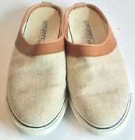 Sperry Top Sider Women's 7.5M Tan And Beige Slip On Boat Shoes