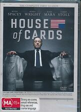 House Of Cards The Complete First Seasons DVD NEW Kevin Spacey Region 4