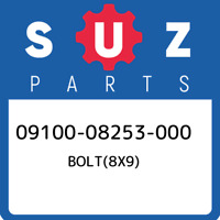 09100-08253-000 Suzuki Bolt(8x9) 0910008253000, New Genuine OEM Part