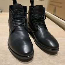 Paul Smith Men's Black Leather Boots UK Size 8.5