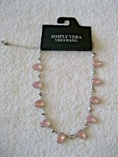 Simply Vera -Vera Wang iridescent pink stone statement necklace NWT MSP $34