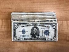 1934 Series Paper Money Five Dollar Silver Certificate One Bill Per Purchase