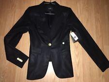 NWT SMYTHE Wool One Button BLACK Duchess Kate Blazer Size 2