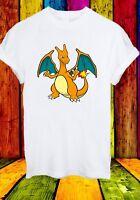 Charizard Charmeleon Charmander Lizardon Pokemon  Men Women Unisex T-shirt 2724