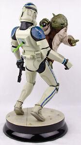 Rare Sideshow Collectibles Star Wars Yoda & Clone Trooper Premium Format Figure