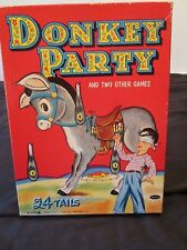 Vintage Whitman 1941 Donkey Party Pin-the-Tail  Litho Made in USA #4108:15
