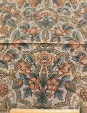 "Antique c1920 French Cotton Jacquard Tapestry  Fabric~Jacobean Style~27""X24.5"""
