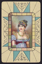 1 Single VINTAGE Swap/Playing Card ROYALTY JOSEPHINE 1st EMPRESS of FRANCE Art