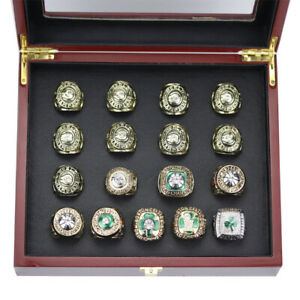 Complete Boston Celtics Finals Championship Ring Set with Display Box