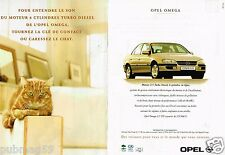 Publicité advertising 1996 (2 pages) Opel Omega ... Chat