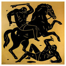 Cleon Peterson, Into the Night, 2014 MINT S/N obey shepard fairey