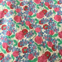 Laura Ashley Lifestyles Full Flat Sheet Floral Rose Pink Blue