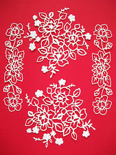 New: 4 Tattered Lace Adele Flower & 4 Adele Border Die Cuts: White.