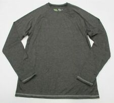 Leslie Jordan Men's Size S Crewneck Athletic Gray Long Sleeve T-shirt