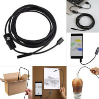5.5mm Android Endoscope Waterproof Snake Borescope USB Inspection Camera 1-5m
