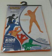 Super Skins Orange Kids Spirit Halloween Costume Fits Small 4-6 C&Breathe Thru