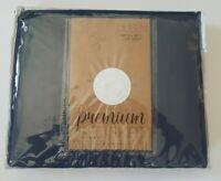 Home Spun Premium Queen Navy Bed Skirt - NEW