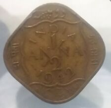 1/2 ANNA 1942 INDIA COIN COLLECTIBLE WORLD WAR II ERA COIN VINTAGE