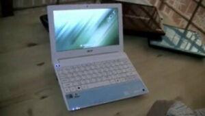 "Sky Blue Portable Clean 10.1"" ACER ASPIRE ONE 1.66GHz WIN 10, 2GB RAM, 250GB HDD"