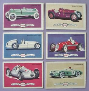 """1950's Atlantic fuel swap card """"Cars & racing cars"""" good condition for their age"""