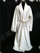 Frontgate Elegan Luxury Hotel Microfiber Bath Shower Robe satin Ivory LARGE