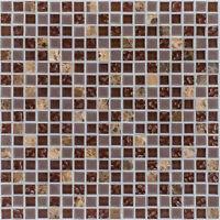 Naturstein Glasmosaik Marmor braun Wand Boden Fliesenspiegel   |1Matte|ES-47918
